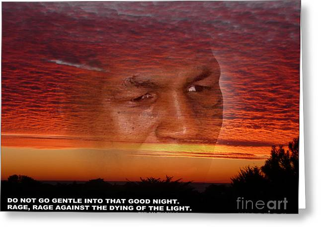 Boxer Digital Greeting Cards - Rage Rage Against the Dying of the Light Greeting Card by Jim Fitzpatrick