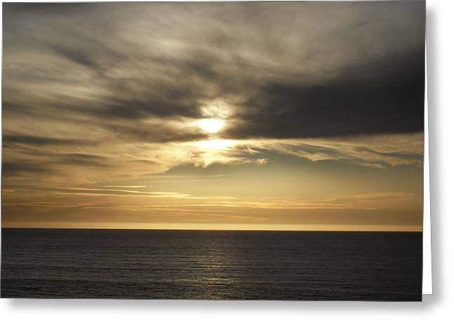 Big Sur Greeting Cards - Ragged Point Sunset Greeting Card by Laura Young