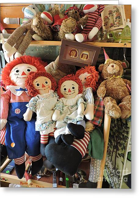 Tears Greeting Cards - Raggedy Ann and Andy Greeting Card by Helene Guertin