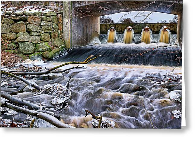 Natural Bridge Station Greeting Cards - Raging River Greeting Card by EXparte SE