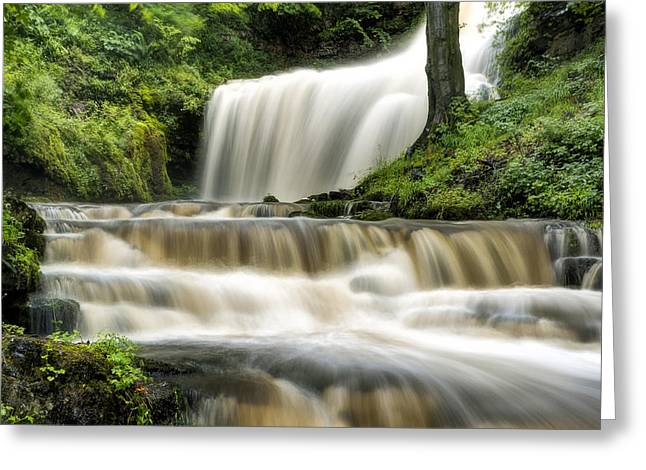 Raging Scaleber Force Falls Greeting Card by Chris Frost