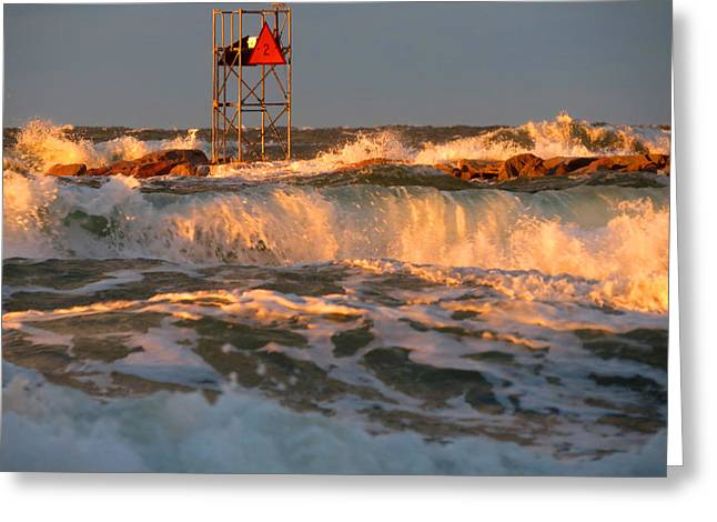 East Dennis Ma Greeting Cards - Raging Waters Greeting Card by Dianne Cowen