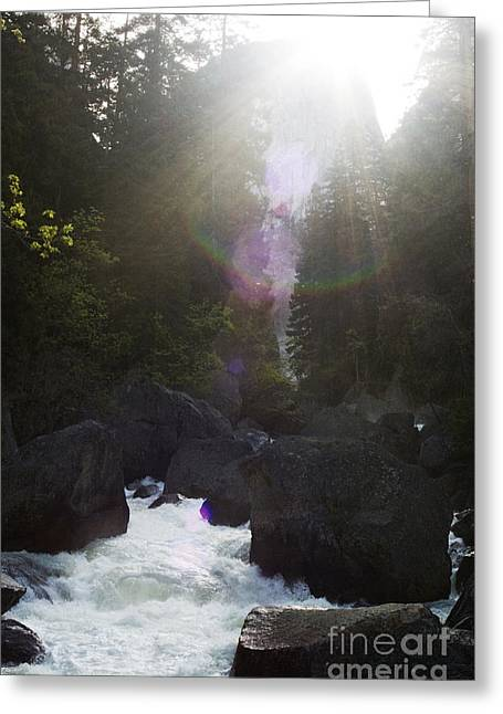 Kelly Greeting Cards - Raging Waters Greeting Card by Kelly Human