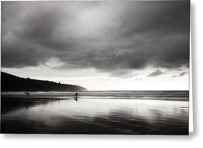 Beach Photograph Greeting Cards - Raglan NZ Greeting Card by Les Cunliffe