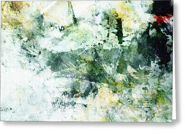 Ragtime Abstract  Art  Greeting Card by Ann Powell