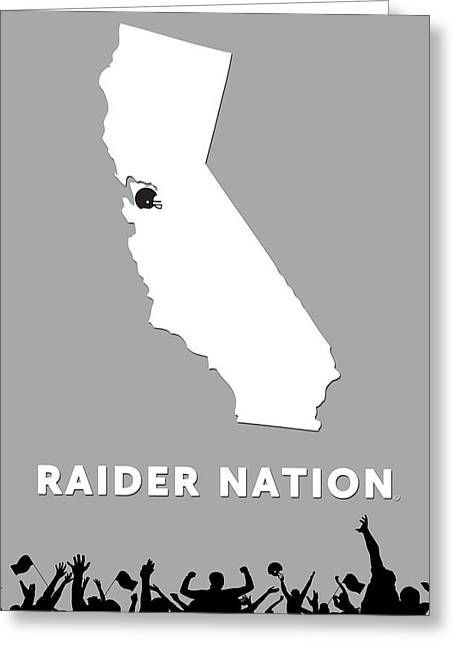 Raider Nation Map Greeting Card by Nancy Ingersoll