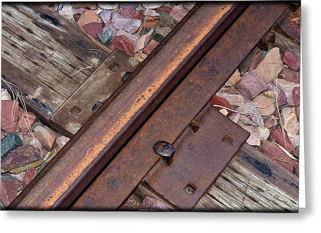 Railroad Tie Greeting Cards - Rail and Tie Greeting Card by Kae Cheatham