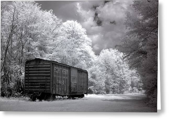Dreamy Photographs Greeting Cards - Rail Car Greeting Card by Terry Reynoldson