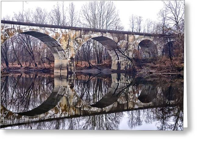 Rail Digital Art Greeting Cards - Rail Road Bridge at Phoenixville and Mont Clare Greeting Card by Bill Cannon
