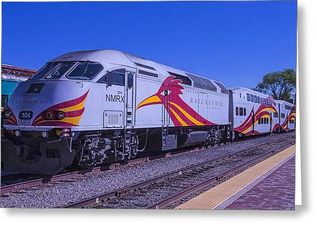 Road Travel Greeting Cards - Rail Runner Santa Fe Greeting Card by Garry Gay