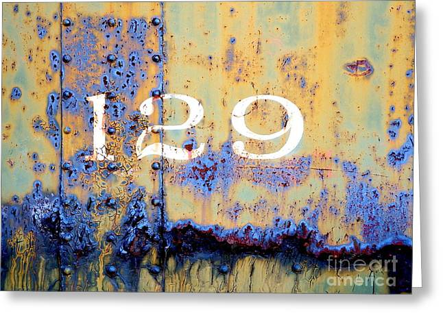 Patina Digital Art Greeting Cards - Rail Rust - Abstract - 129 Greeting Card by Janine Riley