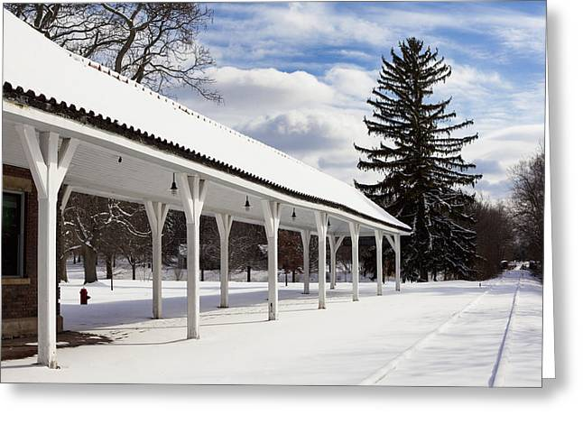 Western New York Greeting Cards - Rail Stop Greeting Card by Peter Chilelli