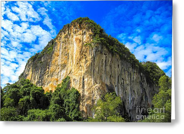 Asien Greeting Cards - Railay Beach Greeting Card by Joerg Lingnau