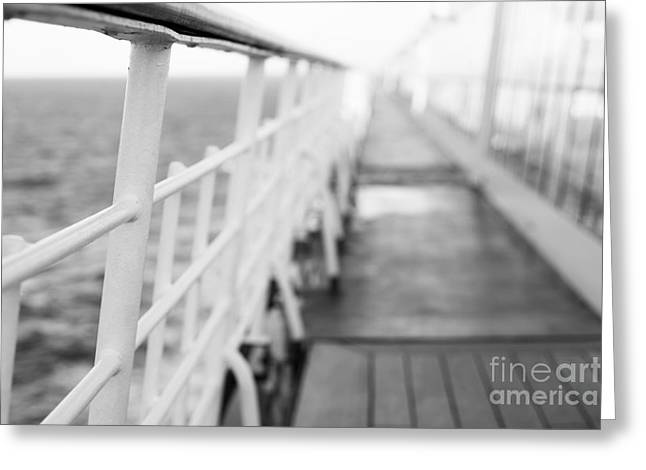 Boat Cruise Greeting Cards - Railings Greeting Card by Anne Gilbert