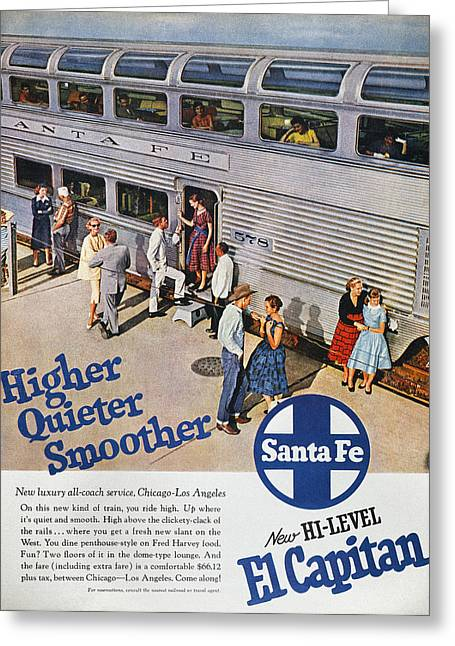 Railroad Ad, 1957 Greeting Card by Granger