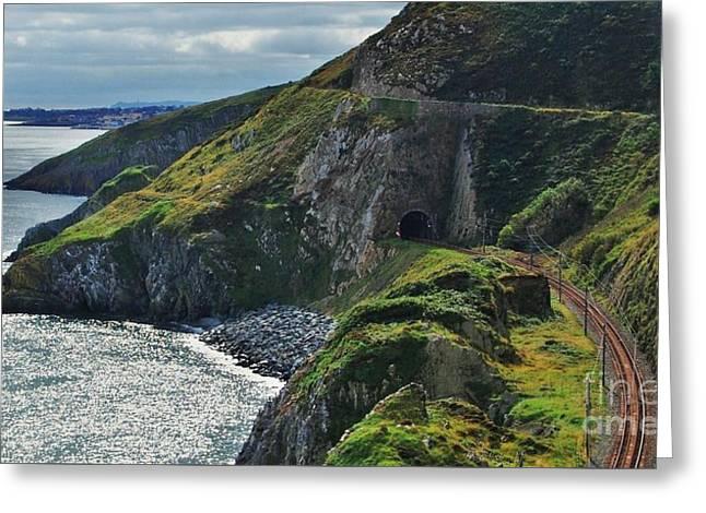 Shower Head Greeting Cards - Railroad Bray Head Ireland Greeting Card by Marcus Dagan