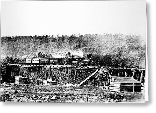 Railroad Bridge, 1858 Greeting Card by Granger