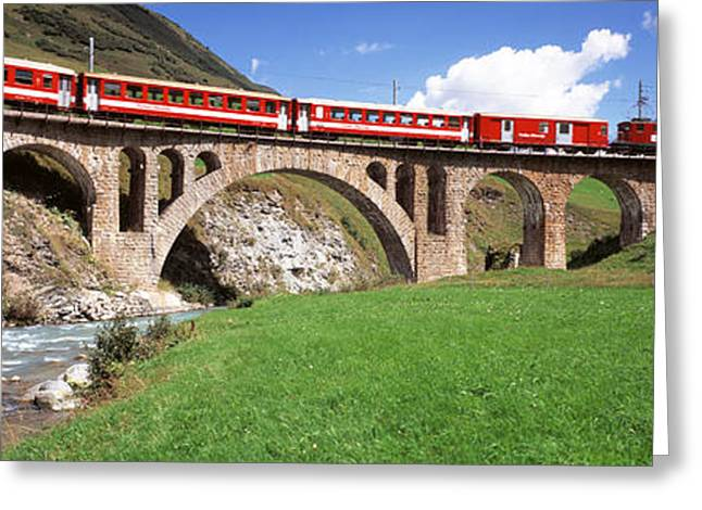 Railroad Bridge, Andermatt, Switzerland Greeting Card by Panoramic Images