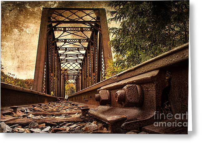 Halifax Greeting Cards - Railroad Bridge Greeting Card by Cindi Ressler