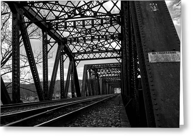 Jahred Allen Photography Greeting Cards - Railroad Bridge Greeting Card by Jahred Allen