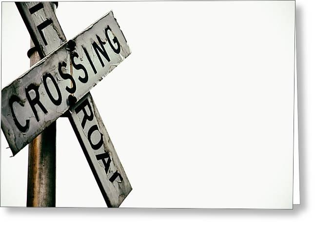 Shelton Greeting Cards - Railroad Crossing Greeting Card by Karol  Livote