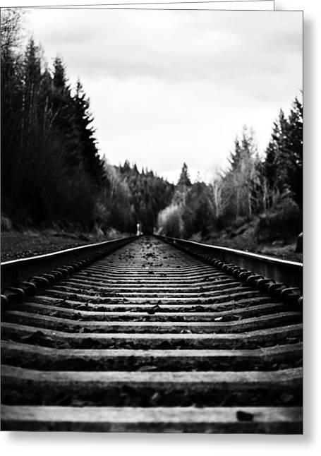 Apgar Greeting Cards - Railroad Greeting Card by Jessie Mazur
