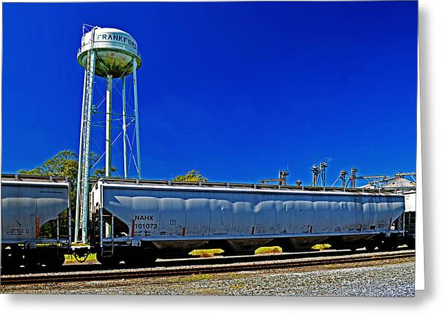 Rail Siding Greeting Cards - Railroad Siding in Frankford Delaware Greeting Card by Bill Swartwout