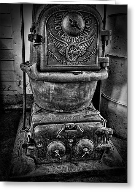 Old Stove Greeting Cards - Railroad Smoke Consumer Stove Greeting Card by Daniel Hagerman