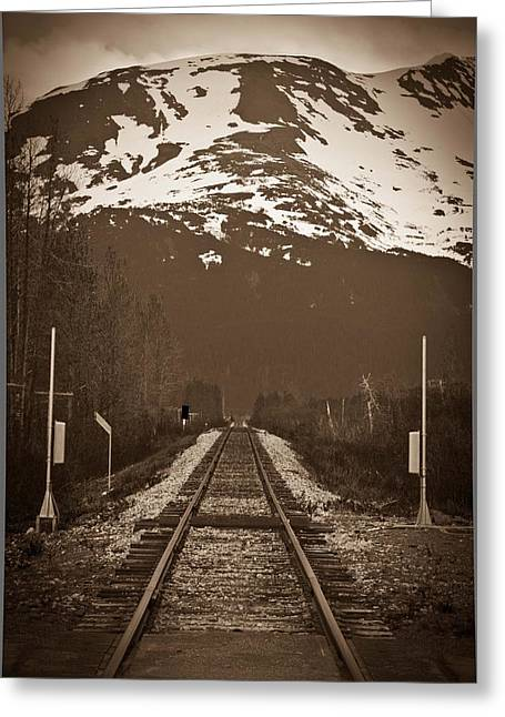 Alaskan Railroad Prints Greeting Cards - Railroad to nowhere Greeting Card by Jeff Ernst