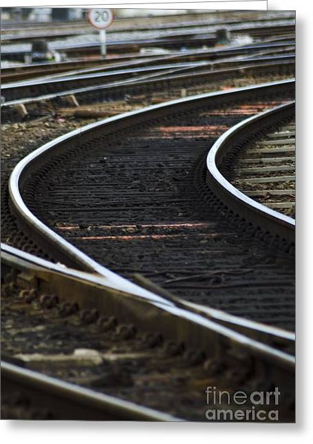 Railroad Tracks Greeting Card by Crown Copyright/Health & Safety Laboratory