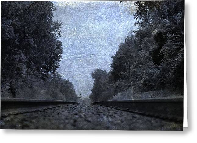 Great Mysteries Photographs Greeting Cards - Railroad Tracks Greeting Card by Dan Sproul