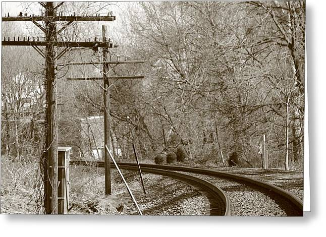 Jahred Allen Photography Greeting Cards - Railroad Tracks Greeting Card by Jahred Allen