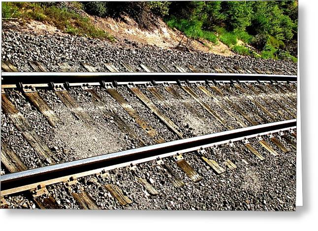 Arkansas Greeting Cards - Railroad Tracks - Royal Gorge Route Greeting Card by Jeff Gater