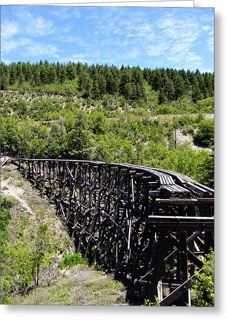 Trestle Greeting Cards - Railroad Trestle at Cloudcroft New Mexico Greeting Card by Kurt Van Wagner