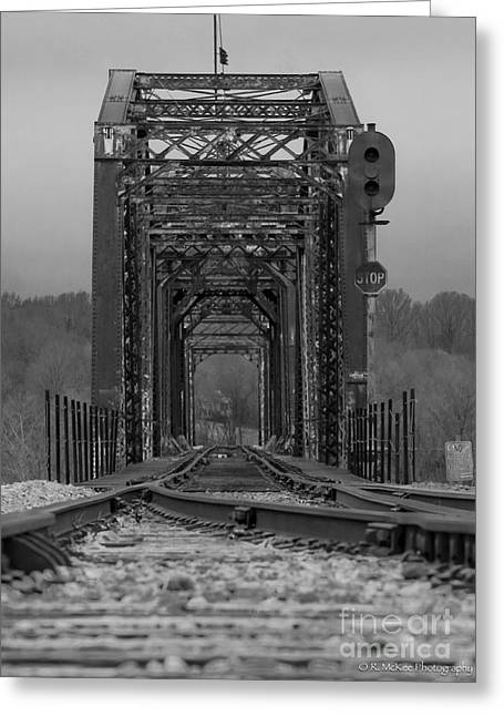 Railroad Trestle Greeting Card by Rick McKee