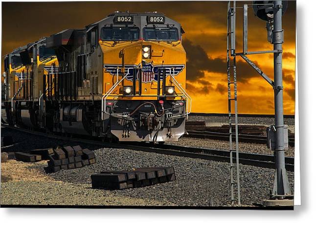 Train Yard Greeting Cards - Railroad Yard I Greeting Card by Dave Koontz