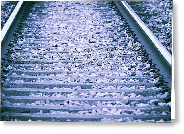 Industrial Concept Greeting Cards - Rails Greeting Card by Modern Art Prints