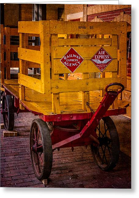 Classic American Railroad Greeting Cards - Railway Cargo Wagon Greeting Card by Paul Freidlund