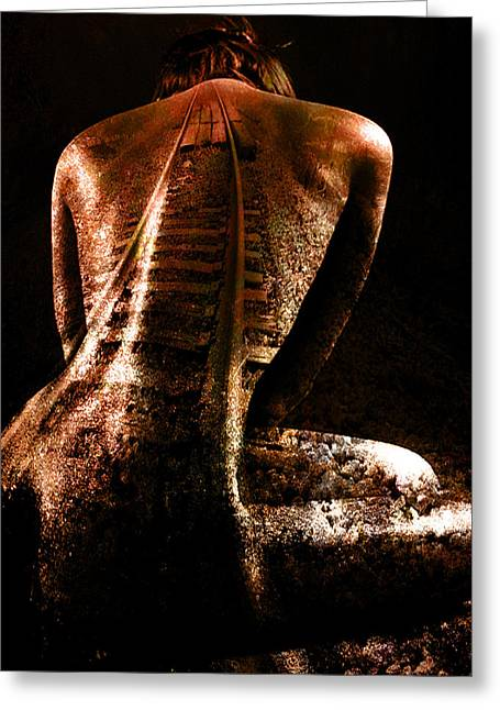 Digital Collage Greeting Cards - Railway Skin Greeting Card by Marian Voicu