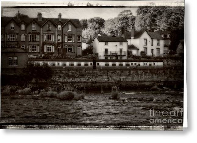 Garden Scene Digital Art Greeting Cards - Railway Station In Llangollen In Wales Greeting Card by Michael Braham