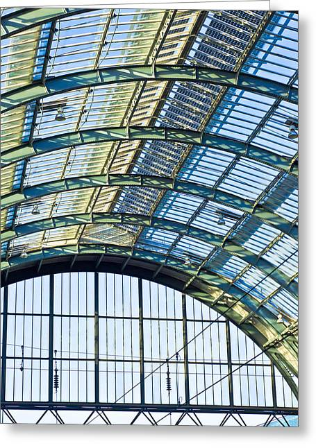Skylights Greeting Cards - Railway station roof Greeting Card by Tom Gowanlock