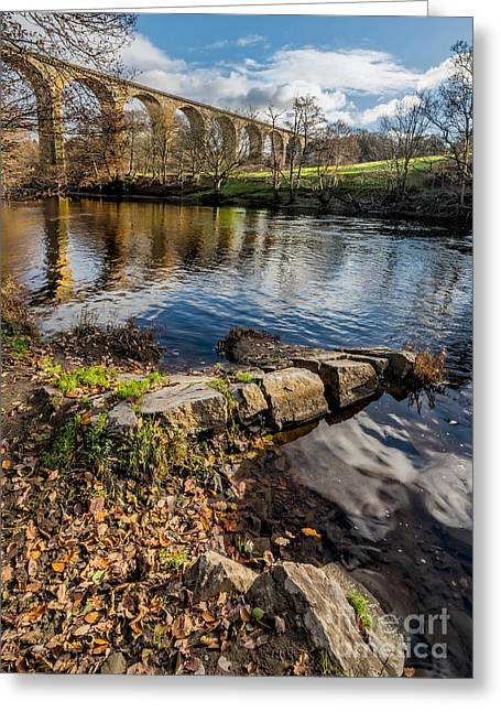 Brassey Greeting Cards - Railway Viaduct Greeting Card by Adrian Evans