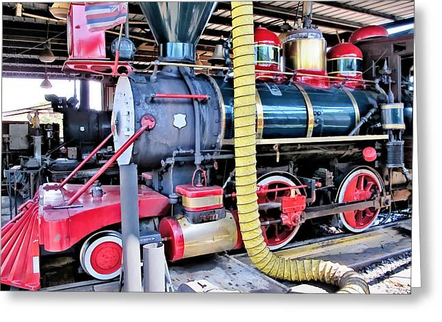 Railyard Greeting Cards - Railyard 10 Greeting Card by Dawn Eshelman