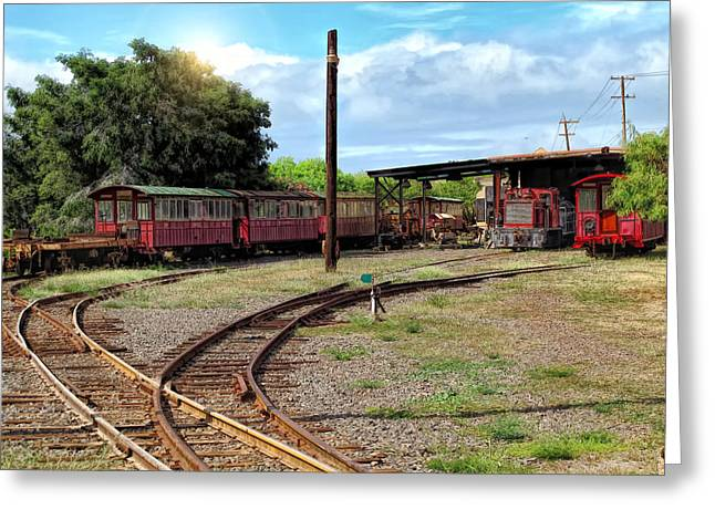 Railyard Greeting Cards - Railyard 24 Greeting Card by Dawn Eshelman