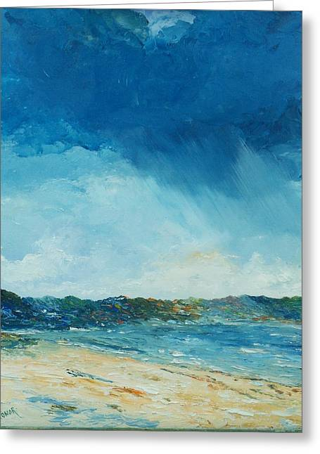 Sand Dunes Paintings Greeting Cards - Rain a comin Greeting Card by Conor Murphy