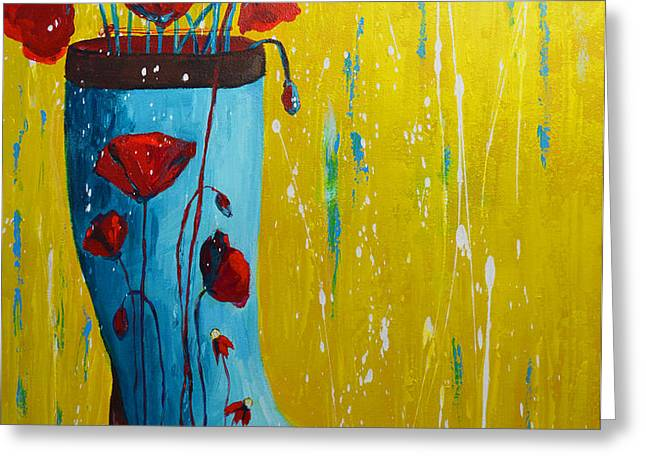 Rain Boot Series Unusual Flower Pots Greeting Card by Patricia Awapara