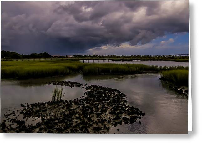 Fineartamerica Greeting Cards - Rain clouds Greeting Card by Zina Stromberg