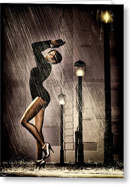 All That Jazz Greeting Cards - Rain Dance Greeting Card by Bob Orsillo