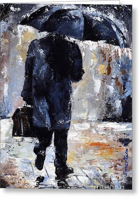 Raining Greeting Cards - Rain day #19 Greeting Card by Emerico Imre Toth