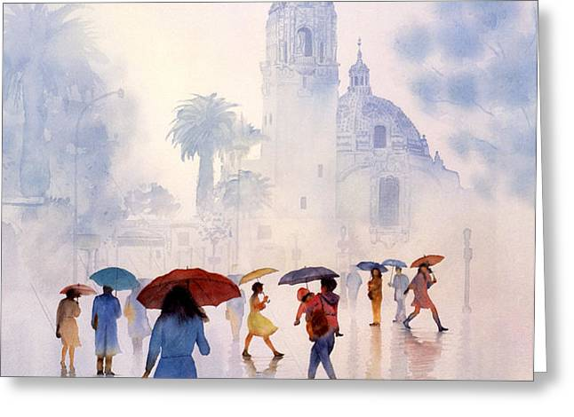 RAIN DROPS Greeting Card by John YATO